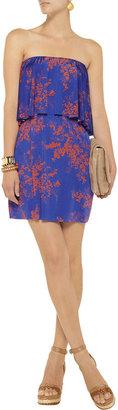 T-Bags Floral-print stretch-satin jersey mini dress