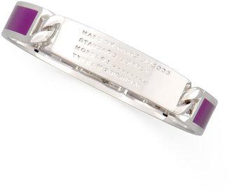 Marc by Marc Jacobs Standard Supply Enamel Bangle, Purple/Silvertone