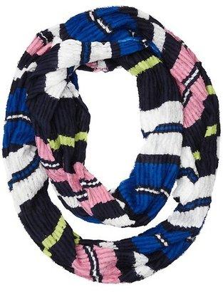 LOFT Crinkle Stripe Infinity Loop Scarf
