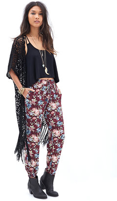 Forever 21 Watercolor Floral Joggers