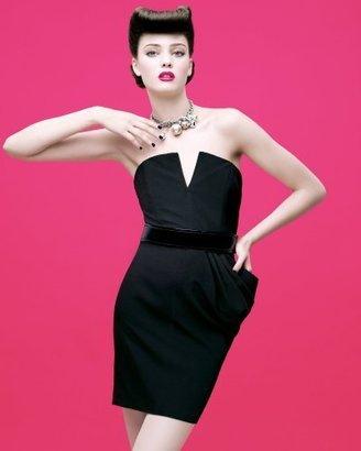 Bebe Bustier Flounce Dress