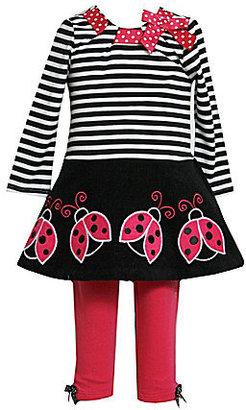 Bonnie Baby Infant Ladybug Dress & Leggings Set