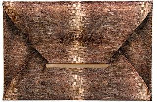 BCBGMAXAZRIA Harlow Textured Envelope Clutch