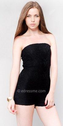 eDressMe Black Lace Rompers