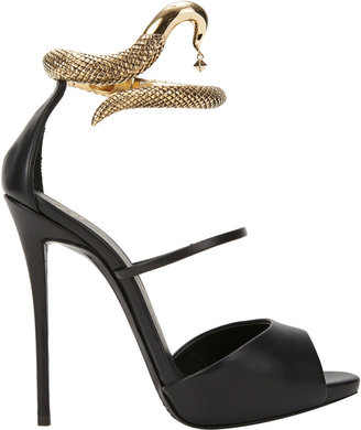 Giuseppe Zanotti Nirvana Python Ankle-Cuff Sandals
