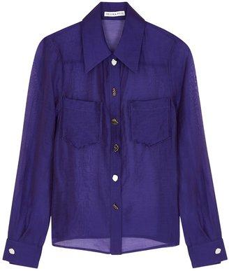 REJINA PYO Remi Purple Sheer Shirt
