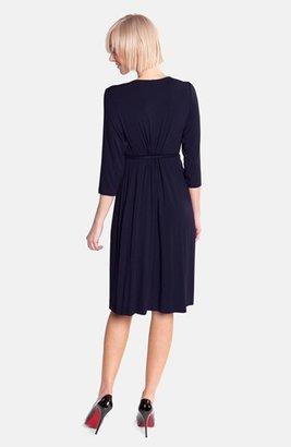 Olian Women's Empire Waist Jersey Maternity Dress