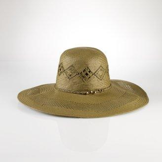Ralph Lauren Crocheted Beaded Straw Hat