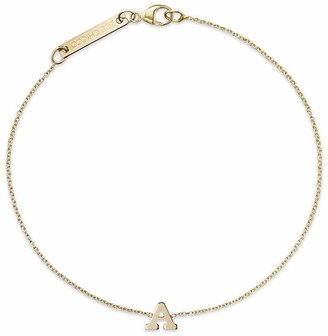 Zoë Chicco 14K Yellow Gold Initial Bracelet $210 thestylecure.com
