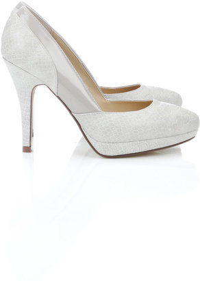 Wallis Cream Platform Court Shoe