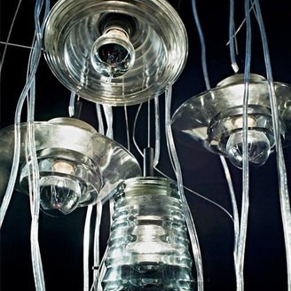 Tom Dixon Pressed Glass Pendant - Tube -Open Box