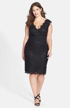 Plus Size Women's Tadashi Shoji Embroidered Lace Sheath Dress $258 thestylecure.com