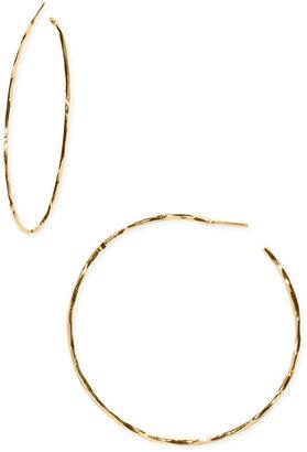 Argento Vivo Hammered Hoop Earrings