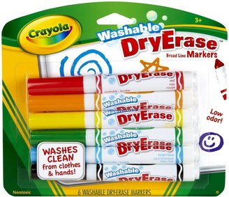 Crayola 6ct Dry Erase Board Line Washable Markers