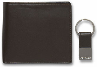 Calvin Klein Leather Coin Pocket Bifold Wallet with Key Fob