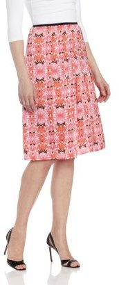 Chaus Women's A-Line Pleated Vintage Hawaiian Skirt