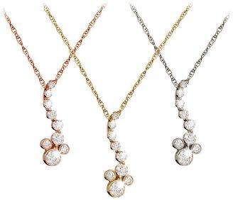 Disney Diamond Pendant Mickey Mouse Necklace 14K
