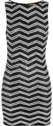 Alice + Olivia Sumie sequined stretch-tulle dress