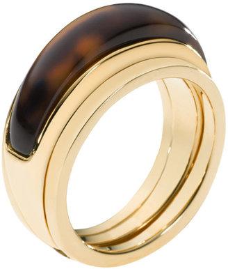Michael Kors Two-Piece Ring, Golden/Tortoise