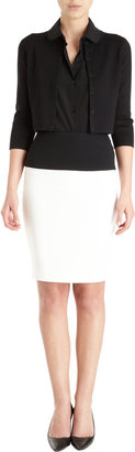 Narciso Rodriguez Cropped Snap Front Cardi