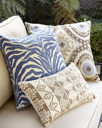 Elaine Smith Global Blue, Tan, & Brown Outdoor Pillows