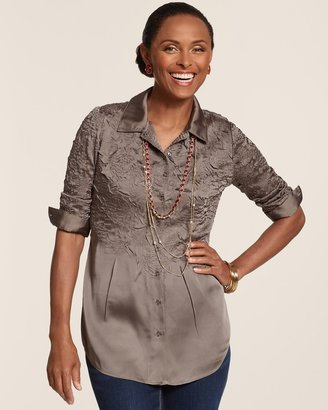 Chico's Crinkle Crush Roxanne Top