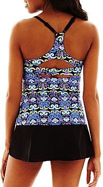 JCPenney Beach Native® Surfin' Scroll Tankini Swim Top or Solid Skirt