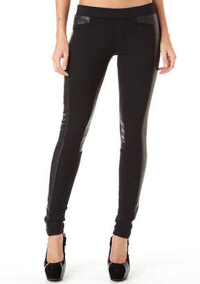 Jalate Jeans Pleather-Trim Ponte Pant
