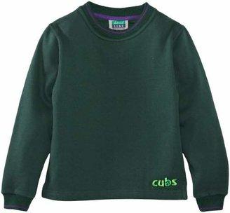 Cub Tipped Boy's Sweatshirt Green CIN