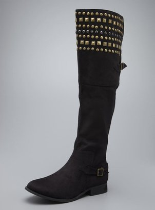 Mia Pyramidd Studded Over The Knee Boots
