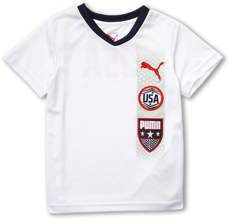 Puma Kids - USA Tee w/ Wicking (Little Kids) (White) - Apparel