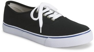 Aeropostale Solid Canvas Lace-Up Sneaker