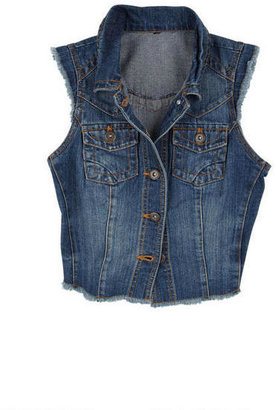 Delia's Dark Wash High Low Vest
