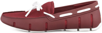 Swims Rubber Slip-On, Burgundy/White