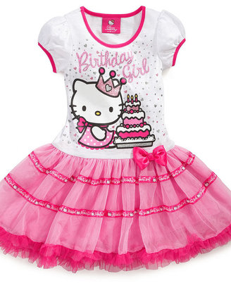 Hello Kitty Kids Dress, Little Girls Birthday Tutu Dress