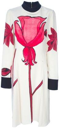 Marni Floral print crepe dress