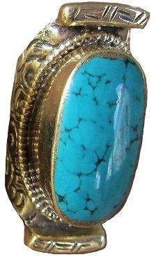 Natalie B Katy Single Stone Saddle Ring in Turquoise