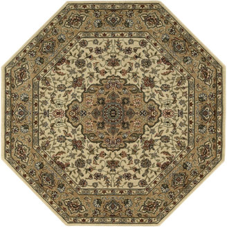 """Nourison Area Rug, Persian Arts BD02 Ivory/Gold 5' 3"""" Octagon"""
