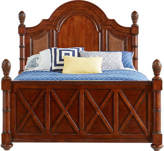 Cindy Crawford Home Key West Dark Pine 3 Pc Queen Panel Bed