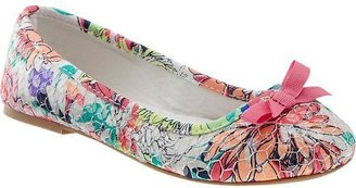 Old Navy Girls Sequined Floral Ballet Flats