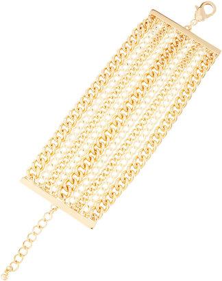 Fragments for Neiman Marcus Multi-Chain Bracelet, White/Golden