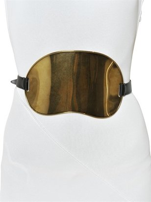 Vionnet Brass And Leather High Waist Belt