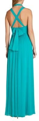 BCBGMAXAZRIA Kadence Silk Halter Gown