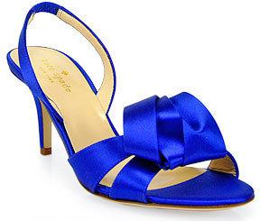 Kate Spade Madison - Cobalt Satin Slingback Sandals