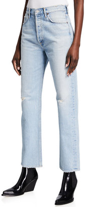 AGOLDE 90s Pinched-Waist High-Rise Straight Jeans