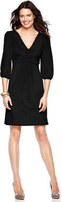 NY Collection Dress, Three Quarter Sleeve Empire Waist Jersey