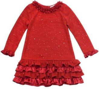 Rare Editions Girls 7-16 Sparkle Knit Dress