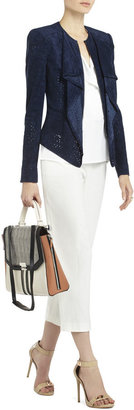 BCBGMAXAZRIA Eliot Perforated Cropped Jacket