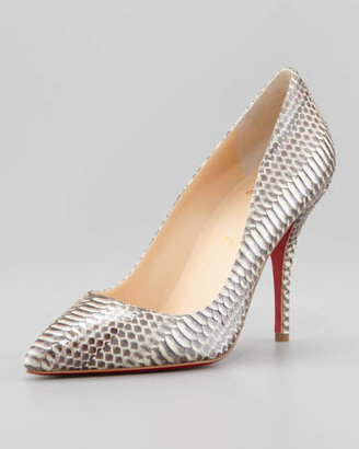 Christian Louboutin Batignolles Snake Pointed Toe Red Sole Pump