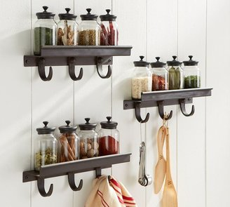 Pottery Barn Modular Spice Shelf with Hooks
